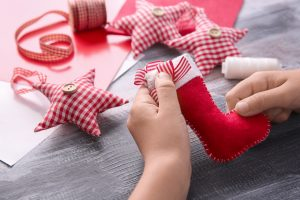sewing christmas decorations